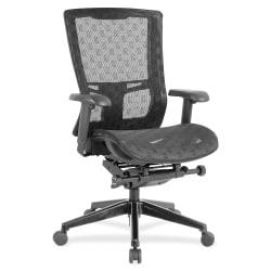 Lorell® Checkerboard Design High-Back Ergonomic Mesh Chair, Black