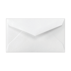 "LUX Mini Envelopes With Moisture Closure, #3, 2 1/8"" x 3 5/8"", Bright White, Pack Of 50"