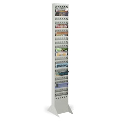 Safco® 23-Pocket Steel Magazine Rack, Without Base, Gray