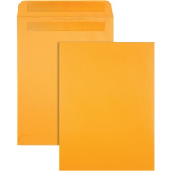 "Quality Park Redi-Seal Kraft Envelopes - Catalog - 9"" Width x 12"" Length - Self-sealing Flap - Kraft - 100 / Box - Brown Kraft"