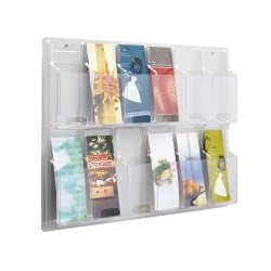 Clear Literature Rack, Pamphlet, 12 Pockets