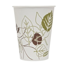 Dixie® Paper Cold Cups, 9 Oz, Sage Print, Pack Of 100