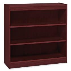 "Lorell® Veneer Bookcase, 3-Shelf, 36""H, Mahogany"