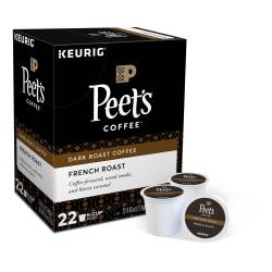 Peet's® Coffee French Roast Coffee Single-Serve K-Cup®, 2.8 Oz, Carton Of 22
