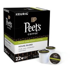 Peet's® Coffee Decaf House Blend Coffee Single-Serve K-Cup®, 2.8 Oz, Carton Of 22
