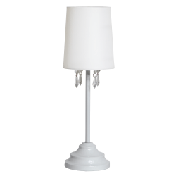 "Simple Designs Table Lamp, 16 5/8""H, White Shade/White Base"