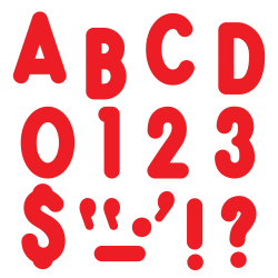 """TREND Ready Letters®, Billboard, 7"""", Red, Pre-K - Grade 12, Pack Of 105"""