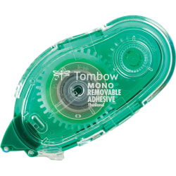 """Tombow Mono Removable Adhesive Applicator, 0.33"""" x 39.33', Clear"""