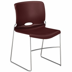 """HON® Olson Stacker® Chairs, 17 1/2""""H x 17 1/4""""W x 18 1/4""""D, Mulberry, Set Of 4"""