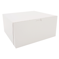"SCT® Bakery Boxes, 12"" x 12"" x 6"", White, Pack Of 50 Boxes"