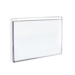 """Azar Displays Wall-Mount U-Frame Acrylic Sign Holders, 5"""" x 7"""", Clear, Pack Of 10"""