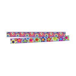 """Barker Creek Double-Sided Border Strips, 3"""" x 35"""", Tie Dye, Set Of 24"""