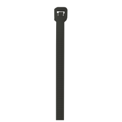 "Office Depot® Brand UV Cable Ties, 40 Lb, 11"", Black, Case Of 500"