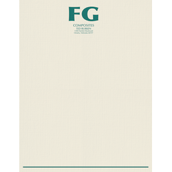 "Custom 1-Color Raised Print Stationery Letterhead, 8-1/2"" x 11"", Off-White Linen, Box Of 250"