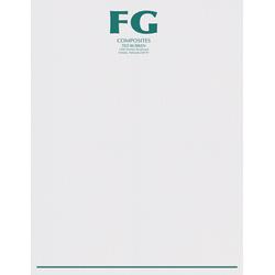 "Custom 1-Color Raised Print Stationery Letterhead, 8-1/2"" x 11"", Gray Linen, Box Of 250"
