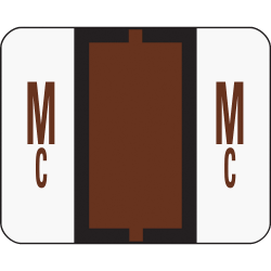 Smead® BCCR Bar-Style Permanent Alphabetical Labels, Mc, Brown, Roll Of 500