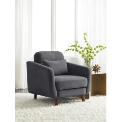 Serta® Sierra Collection Arm Chair, Slate Gray/Chestnut