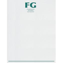 "Custom 1-Color Raised Print Stationery Letterhead, 8 1/2"" x 11"", Gray Laid, Box Of 250"