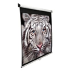 Elite Screens? Manual SRM Series - 113-Inch 1:1, Slow Retract Pull Down Projection Projector Screen, Model: M113NWS1-SRM""