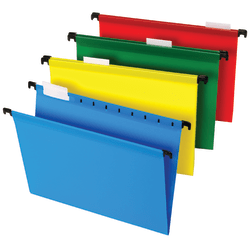 "Office Depot® Brand Hanging File Folders, 8 1/2"" x 11"", Letter Size, Assorted Colors, Box Of 20 Folders"
