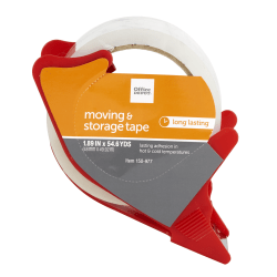 "Office Depot® Brand Moving And Storage Tape With Dispenser, 1.89"" x 54.6 Yd., Clear"