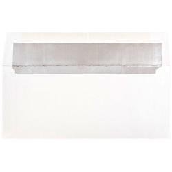 "JAM Paper® Foil-Lined Envelopes, 3 7/8"" x 8 1/8"", White/Silver Lining, Pack Of 25"