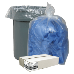 Nature Saver® Recycled Trash Bags, 55 Gallon, Box Of 100