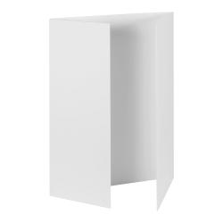"Pacon Tri-Fold Foam Presentation Boards, 48""W x 36""H, Matte White, Carton Of 12"