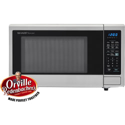 Sharp® Carousel 1.4 Cu Ft Countertop Microwave Oven With Orville Redenbacher's Popcorn Preset, Stainless
