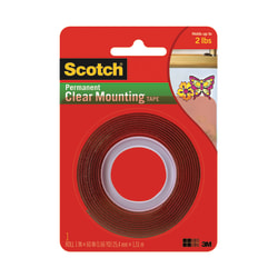 """Scotch® Permanent Double-Sided Tape, 1"""" x 60"""""""