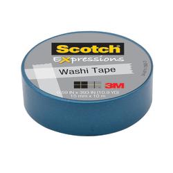"Scotch® Expressions Washi Tape, 5/8"" x 393"", Blue"