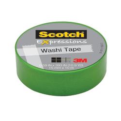 "Scotch® Expressions Washi Tape, 5/8"" x 393"", Green"