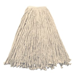 Wilen Stinger Cut-End Wet Mop Head, Value, White, Pack Of 12