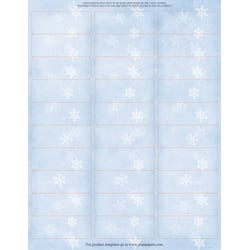 """Great Papers!® Holiday Address Labels, 20104208, 2 5/8"""" x 1"""", Winter Flakes, Pack Of 300"""