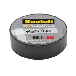 "Scotch® Expressions Washi Tape, 5/8"" x 393"", Black"