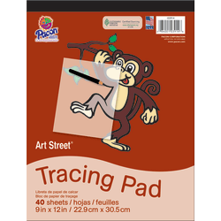"Pacon® Art Street® Drawing Paper Pad, 9"" x 12"", White, 40 Sheets"