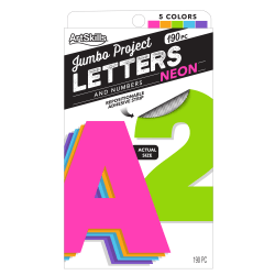 """ArtSkills® 100% Recycled Quick Letters, 4"""", Assorted Colors, Pack Of 180"""