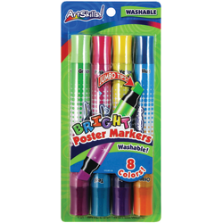 ArtSkills® Double-Sided Neon Markers, Assorted, Pack Of 4