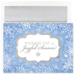 "Great Papers! Holiday Greeting Cards With Envelopes, 7 7/8"" x 5 5/8"", Joyful Season, Pack Of 18"