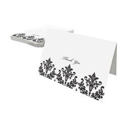 Gartner™ Studios Thank You Cards, Black/White, Pack Of 50
