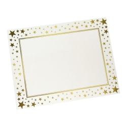 """Gartner™ Studios Award Certificate, 8 1/2"""" x 11"""", Gold Foil Stars, Pack Of 15"""