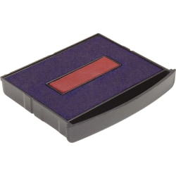 Xstamper Classix Self-inking Replacement Pad - 1 Each - Red, Blue Ink - Red, Blue