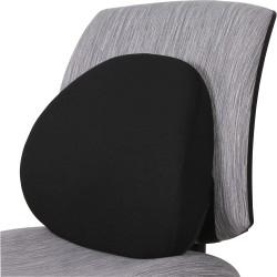 Lorell® Ergo Fabric Lumbar Back Support, Black