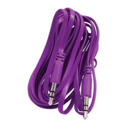 Duracell® 3.5mm Stereo Audio Cable, 10', Purple