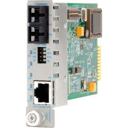 iConverter 10/100/1000 Gigabit Ethernet Fiber Media Converter SC Single-Mode 12km Module - 1 x 10/100/1000BASE-T; 1 x 1000BASE-LX; Internal Module; Lifetime Warranty