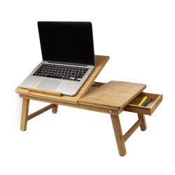 "Mind Reader Bamboo Laptop Bed Tray, 9""H x 21""W x 13.5""D, Brown, BEDTRAYBMBRN"
