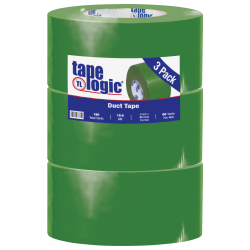"Tape Logic® Color Duct Tape, 3"" Core, 3"" x 180', Green, Case Of 3"