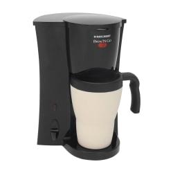 Black & Decker Brew 'n Go Personal Coffeemaker With Travel Mug, Black/White, DCM18