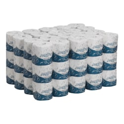 Angel Soft Ultra Professional Series® by GP PRO 2-Ply Embossed Toilet Paper, White, 60 Rolls Per Case