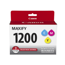 Canon PGI-1200 CMY Original Ink Cartridge - Inkjet - 700 Pages (Per Cartridge) - Cyan, Magenta, Yellow - 3 / Pack